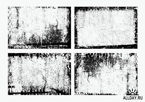 Гранжевые фоны - Векторный клипарт | Splattered Grunge Backgrounds - Stock Vectors