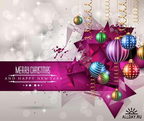 Новогодние открытки 4 - Векторный клипарт | Xmas card 4 - Stock Vectors