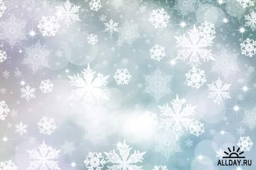 Зимние фоны 2  - Растровый клипарт   Winter Backgrounds #2 - UHQ Stock Photo