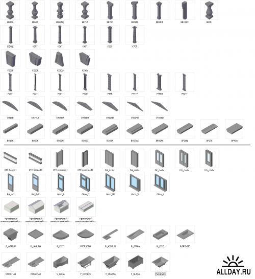 Библиотека 2D и 3D моделей отечественных производителей для AutoCAD и Revit