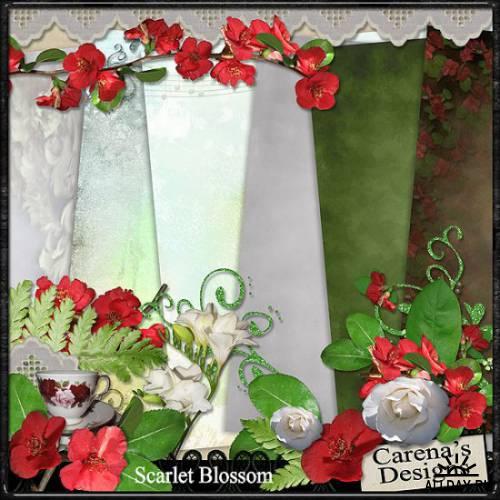 Скрап-набор Scarlet Blossom