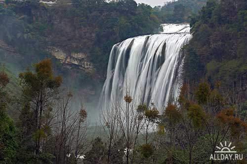 Растровый клипарт - Водопады