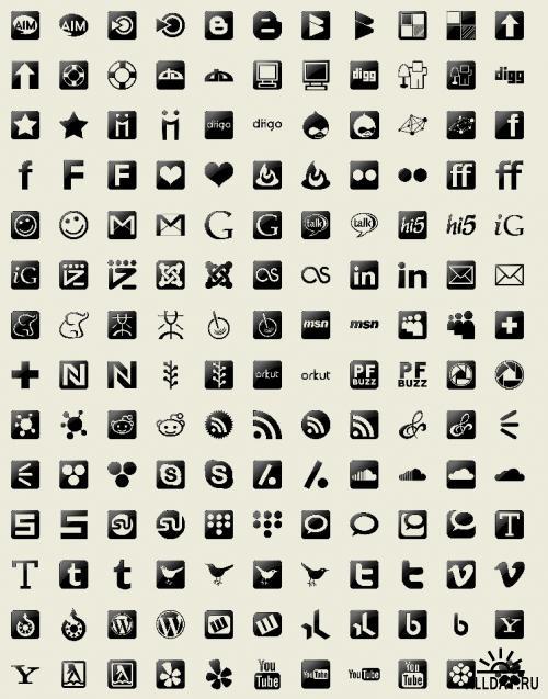 Социальные сети (Black)