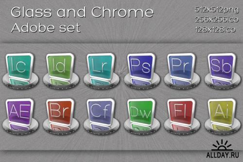 Иконки Стекло и металл / Glass and Chrome icons
