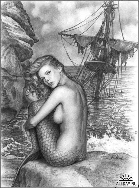 девушки рисунки карандашом голые