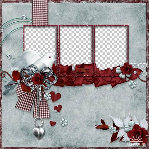 Романтические скрап-наборы и скрап-странички