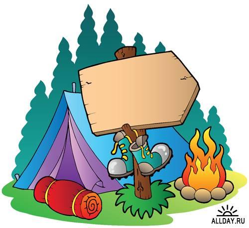 Летний лагерь - Векторный клипарт   Summer camp - Stock Vectors