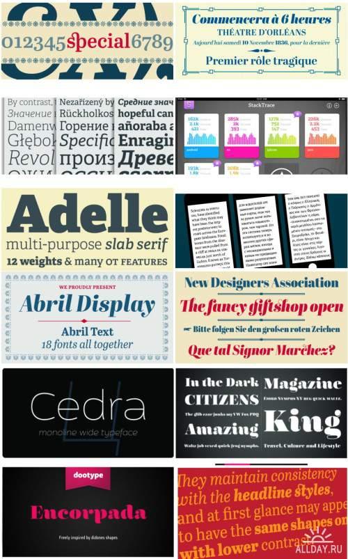 Сборник красивых шрифтов / Fonts pack 15