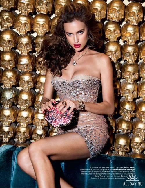 Фотоссесия Ирины Шейк в журнале Tatler 2011