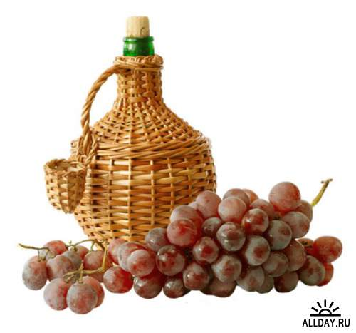 Виноград - набор элементов для коллажей