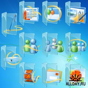 Windows Live Library & Live Folder Iconpack