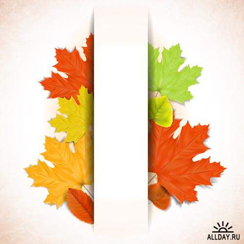 Осенние фоны # 16 - Векторный клипарт