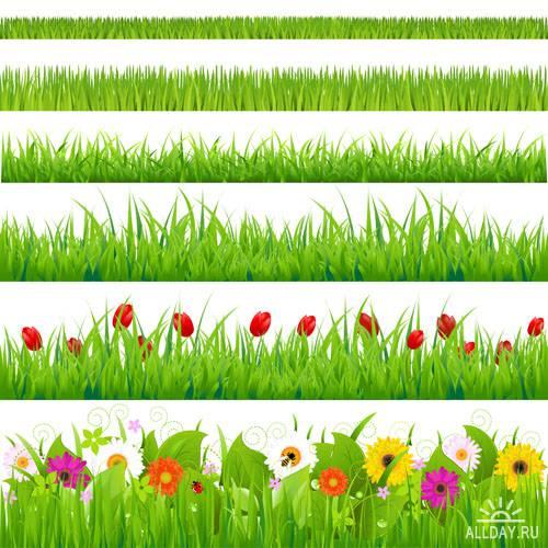 Цветы в векторе #6 - Векторный клипарт