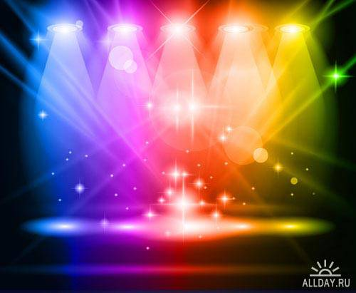 Сцена освещенная прожекторами 5 | Stage with spotlights 5