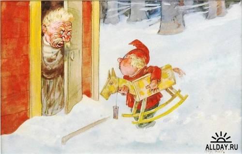 Художник-иллюстратор Gustav Robert Hogfeldt (Густав Роберт Хёгфельдт)