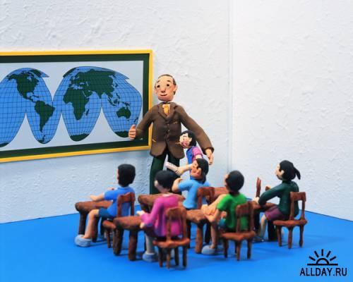 Клипарт - Школьная жизнь в поделках / MX-077 Handmade School Life