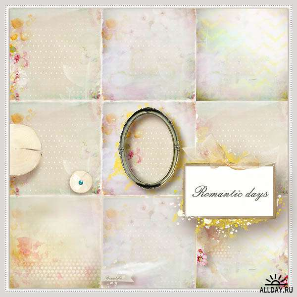Scrap set - Romantic days
