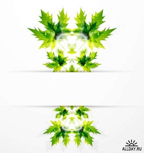 Векторные листья и природа  | Vector leaves and nature from stock - 25 Eps