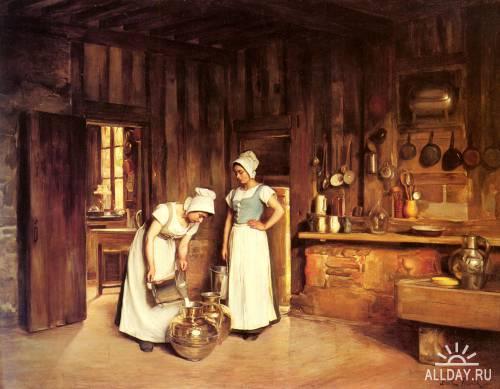 Картины западных художников маслом. Часть 94