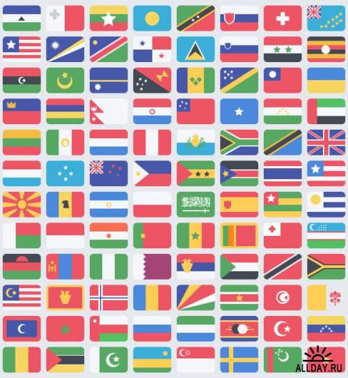 Качественные флаги стран мира