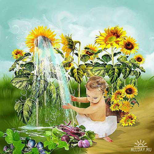 Scrap kit Sunflower Summer