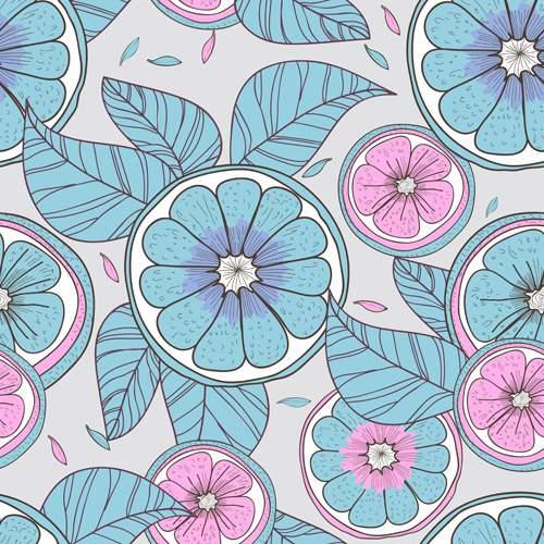 Паттерны с цветами - Векторный клипарт | Floral patterns - Stock Vectors