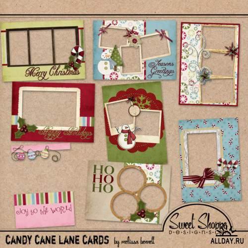 Скрап-набор - Candy Cane Lane