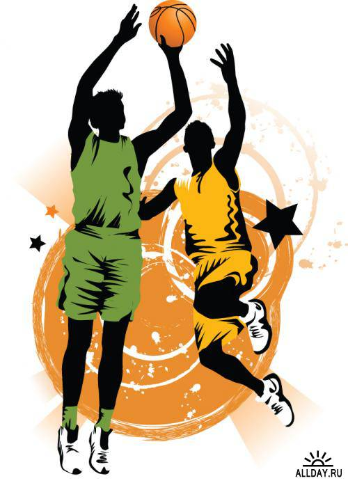 Basketball silhouette - vector