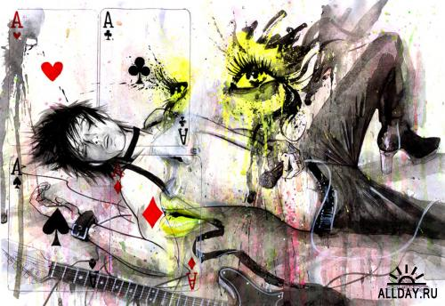 Новая подборка работ художницы под ником Lora8