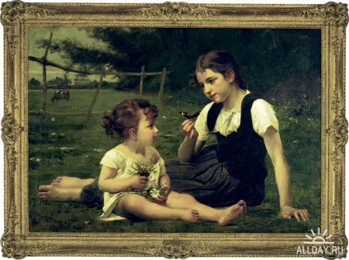 Французский художник Francois Alfred Delobbe (1835-1920)