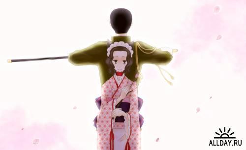 Арт по анимэ Otome Youkai Zakuro