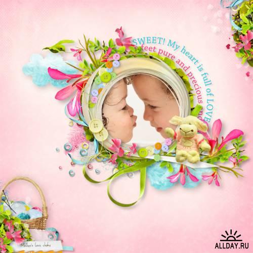 Скрап-набор Mommy loves you