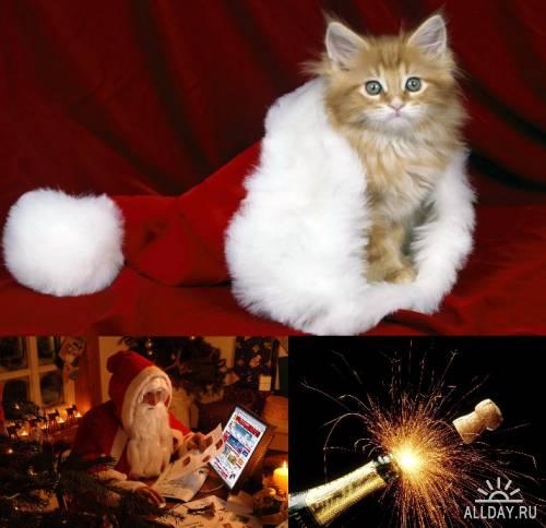 Большая коллекция новогодних обоев 2011