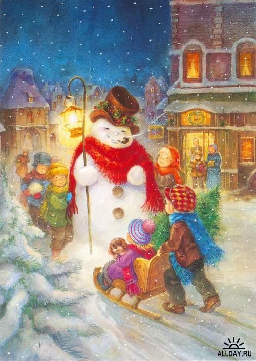 Christmas and New Year 1 - old postcards XX century | Рождество и Новый год    1 - Открытки ХХ века