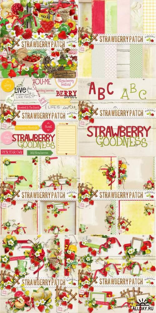 Скрап-набор Strawberry Patch + add-on