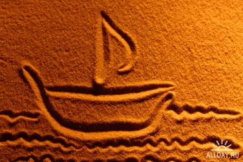 Drawing on sand - Рисунки на песке (Part 2)