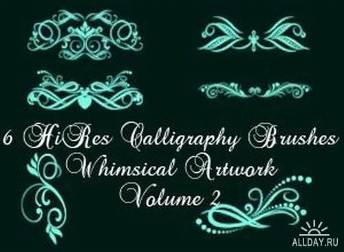 Calligraphy Elements Photoshop Brushes