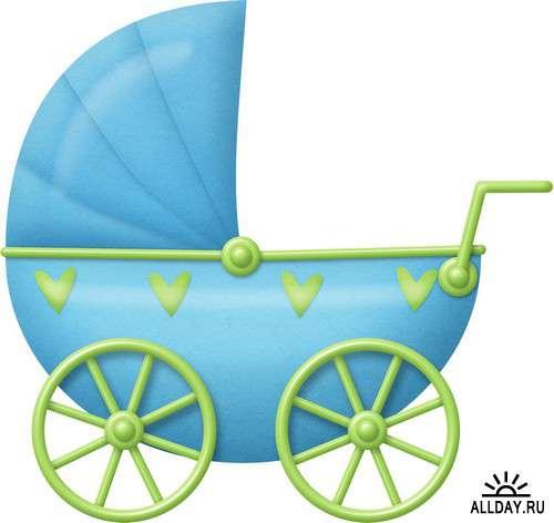 Newborn and baby kit | Новорожденный и младенец - набор - элементы для коллажей