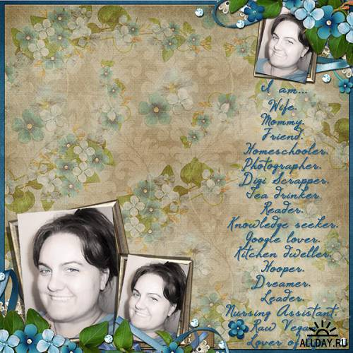 Scrap kit Forget Me Knot
