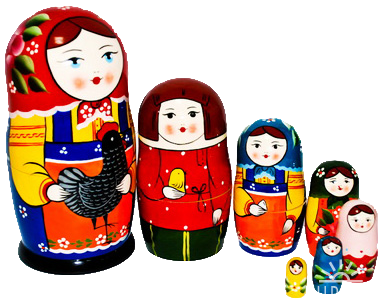 Russian Doll Русская матрешка png