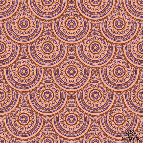 Eastern style seamless pattern