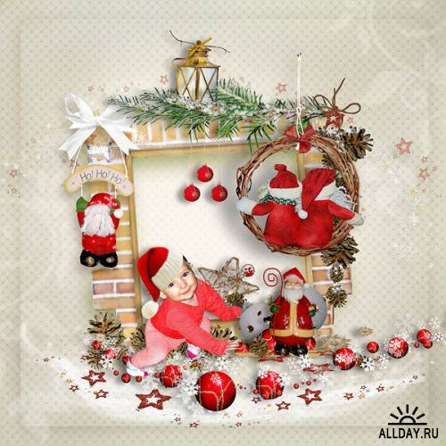 Scrap kit  Happy Christmas