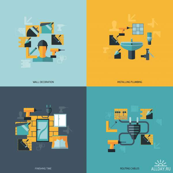 Templates flat design concept icon and sign vector