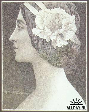 Испанский художник эпохи модерн Alexandre de Riquer (1856-1920)