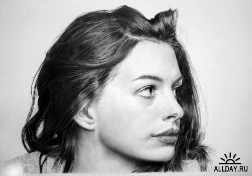 Реалистичные рисунки Franco Clun