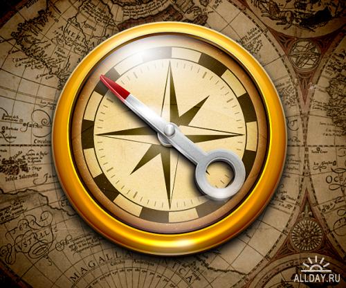 Компас - Compass Pixelresort Icon Pack