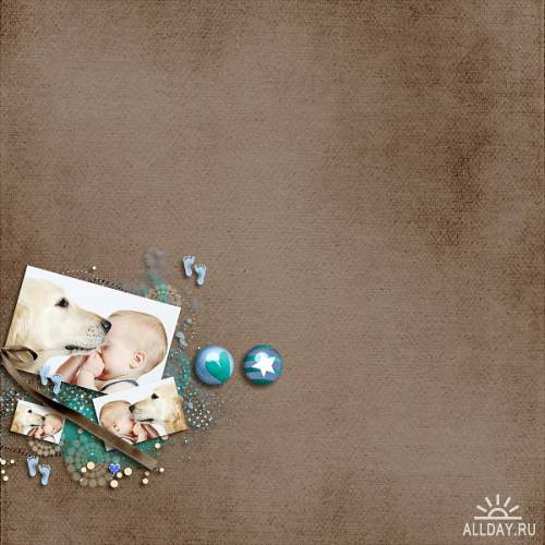 Скрап-набор On That Joyful Day [ baby boy kit ]