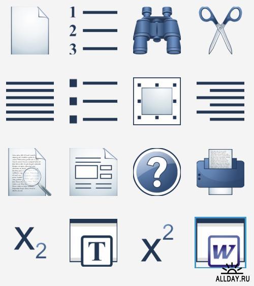Набор иконок «Saphire» | Ico set «Saphire»