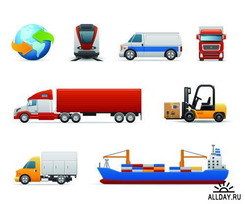 Перевозка груза - Logistic icons