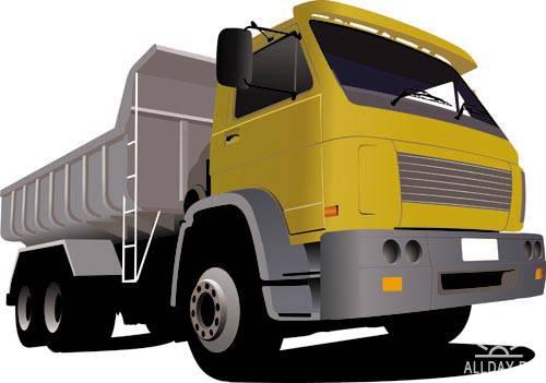 Stock Vector: illustration of trucks | Иллюстрации грузовиков